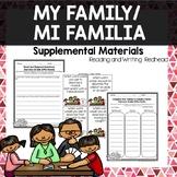 Journeys Second Grade Week 2 - My Family Mi Familia