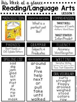 Journeys 2nd Grade Week At A Glance Newsletter Editable