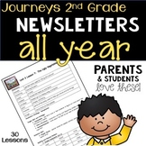 Journeys 2nd Grade Weekly Newsletter BUNDLE - ALL YEAR!