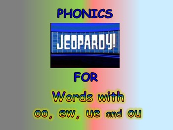 """Journeys 2nd Lesson 26 Jeopardy Phonics PPT for """"The Mysterious Tadpole"""""""