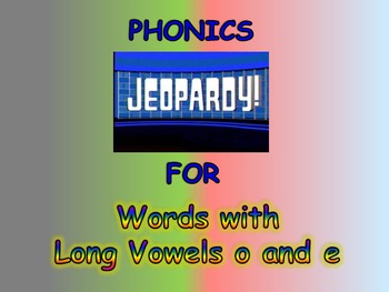 "Journeys 2nd Lesson 30 Jeopardy Phonics PPt for ""Now & Ben"""