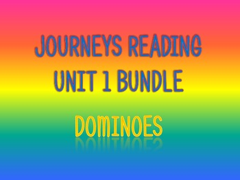 Journeys 2nd Unit 1 BUNDLE for Vocabulary Dominoes