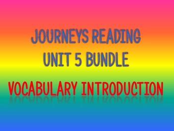 Journeys 2nd Unit 5 BUNDLE for Vocabulary Introduction