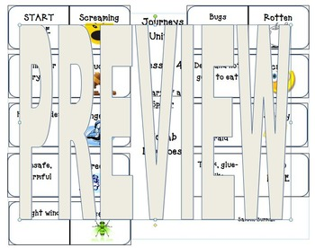 Journeys 2nd Vocabulary Dominoes Unit 1 Lesson 4 Diary of A Spider