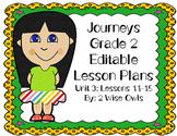 Journeys 2nd grade Editable Lesson Plans-Unit 3