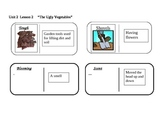 """Journeys 2nd grade Reading Series Vocabulary Dominoes """"The Ugly Vegetables"""""""