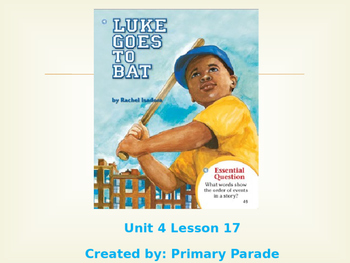 Journeys 2nd grade: Unit 4 Lesson 17- Luke Goes to Bat PPT