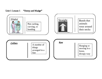 """Journeys 2nd grade reading series Vocabulary Dominoes """"Henry and Mudge"""""""
