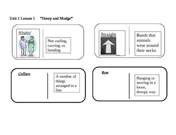 "Journeys 2nd grade reading series Vocabulary Dominoes ""Hen"