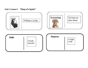 "Journeys 2nd grade reading series Vocabulary Dominoes ""Dia"