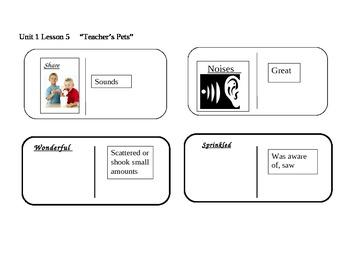"Journeys 2nd grade reading series Vocabulary Dominoes ""Teacher's Pets"""