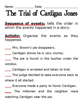 "Journeys 3 ""The Trial of Cardigan Jones"" sequence of events"