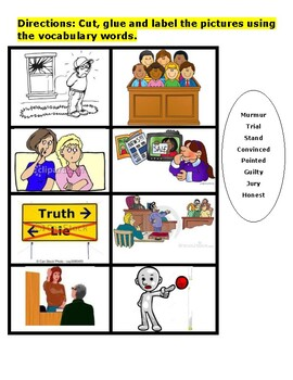 "Journeys 3 unit 1 lesson 2 ""The Trial of Cardigan Jones"" vocabulary"