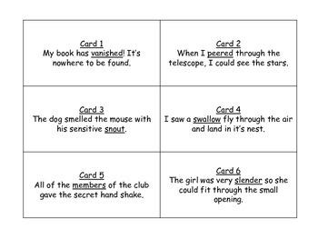 Journeys 3rd Grade Unit 4 Vocabulary Task Card Bundle