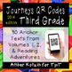 Journeys 3rd Grade BUNDLE: Reading Units, QR Codes, Exit Tickets