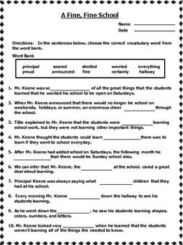 Journeys 3rd Grade Cloze Fill in the Blank Worksheets Units 1 - 6 2011