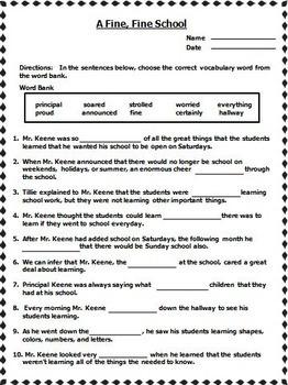 Journeys 3rd Grade Cloze Worksheets Unit 1 - Unit 6   2011