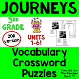 Journeys 3rd Grade Crossword Puzzles Unit 1 - Unit 6  Full Year | 2011