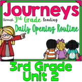 Journeys 3rd Grade Daily Routine, Unit 2  (For PowerPoint and Google Classroom)