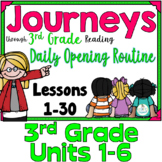 Journeys 3rd Grade Daily Routine Bundle, for PowerPoint and Google Slides