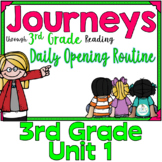 Journeys 3rd Grade Daily Routine, Unit 1   (For PowerPoint and Google Classroom)