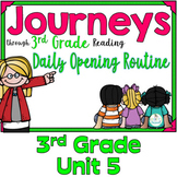 Journeys 3rd Grade Daily Routine, Unit 5   (For PowerPoint and Google Classroom)