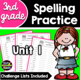Journeys 3rd Grade Differentiated Spelling Lists- Unit 1