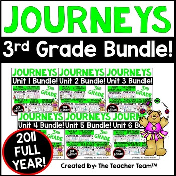 Journeys 3rd Grade Units 1-6 Full Year Supplemental Bundle 2011