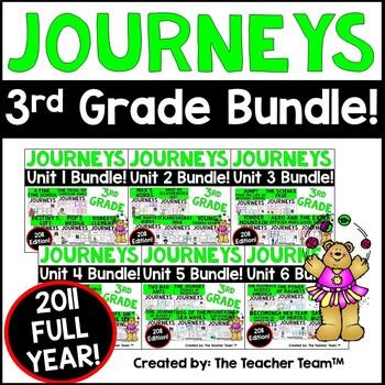 Journeys Reading 3rd Grade Language Arts Units 1-6 Full Ye