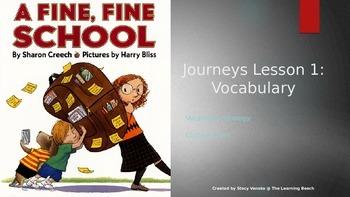 Journeys 3rd Grade Lesson 1 {Freebie} Vocabulary PowerPoin