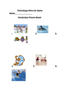 Journeys 3rd Grade Lesson 11 Technology Wins the Game Vocabulary Pictureboard