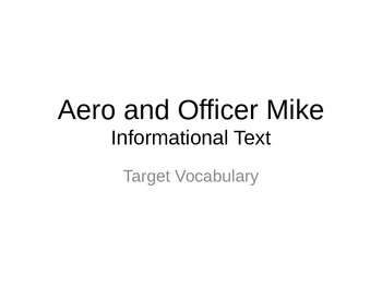 Journeys 3rd Grade Lesson 14 Aero and Officer Mike Vocabulary Powerpoint