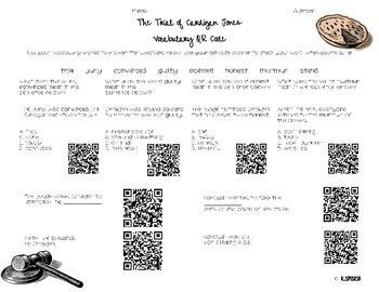 Journeys (3rd Grade) Lesson 2: The Trial of Cardigan Jones- Vocabulary Practice
