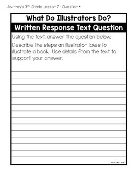 Journeys 3rd Grade Lesson 7 What Do Illustrators Do? Interactive Notebook