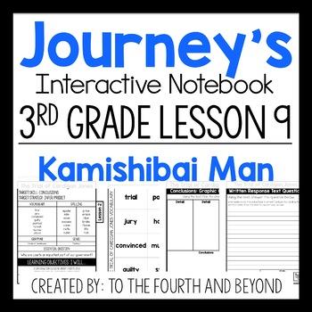Journeys 3rd Grade Lesson 9 Kamishibai Man Interactive Notebook