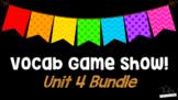Journeys 3rd Grade Unit 4 (Lessons 16-20) Vocabulary Game BUNDLE