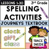 Journeys 3rd Grade - Rainbow Spelling Words
