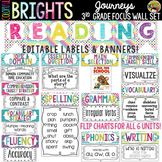 Journeys 3rd Grade Reading Focus Wall Set + Newsletters {Colorful Brights}