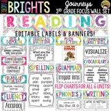 Journeys 3rd Grade Reading Focus Wall Set + Newsletters {C