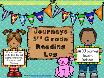 Journeys 3rd Grade Reading Log By Barking About Second Grade Tpt