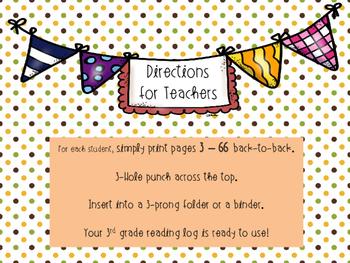 Journeys 3rd Grade Reading Log