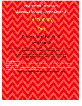 Journeys 3rd Grade Reading Series: Dictionary Skills Unit 2