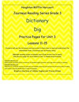 Journeys 3rd Grade Reading Series: Dictionary Skills Unit 3