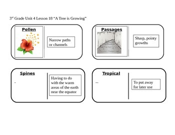 """Journeys 3rd Grade Reading Series Vocabulary Dominoes """"A T"""