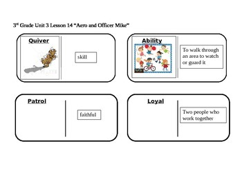 """Journeys 3rd Grade Reading Series Vocabulary Dominoes """"Aero and Mike"""""""