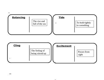 "Journeys 3rd Grade Reading Series Vocabulary Dominoes ""Pop's Bridge"""