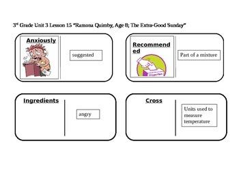 "Journeys 3rd Grade Reading Series Vocabulary Dominoes ""Ramona: The Extra-Good..."