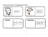 """Journeys 3rd Grade Reading Series Vocabulary Dominoes """"Technology Wins the Game"""""""