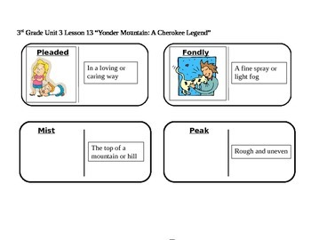 """Journeys 3rd Grade Reading Series Vocabulary Dominoes """"Yon"""