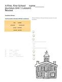 Journeys 3rd Grade Review Study Guide Unit 1: A Fine, Fine School